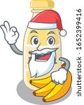 cashew milk in santa cartoon... | Shutterstock .eps vector #1652399416
