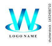 initials w.vector with a white... | Shutterstock .eps vector #1652408710