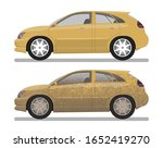 the car is dirty and clean.... | Shutterstock .eps vector #1652419270