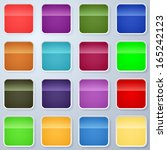 square buttons vector templates   Shutterstock .eps vector #165242123