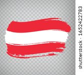 flag of austria from brush...