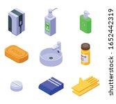 sanitation icons set. isometric ...   Shutterstock .eps vector #1652442319