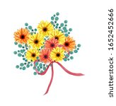 African Daisy Flowers With...