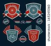 classic bicycles vector label... | Shutterstock .eps vector #165245360