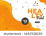 food sale discount banner... | Shutterstock .eps vector #1652528233