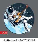 astronaut playing guitar in...   Shutterstock .eps vector #1652553193