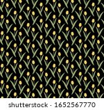 yellow tulips on a black... | Shutterstock .eps vector #1652567770