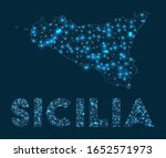 sicilia network map. abstract... | Shutterstock .eps vector #1652571973