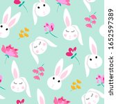 Pattern Design Cute Bunny ...