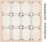 decorative frames and borders... | Shutterstock .eps vector #1652600560