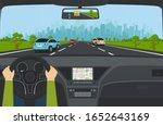 city traffic on the highway... | Shutterstock .eps vector #1652643169