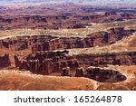 grand desert view in... | Shutterstock . vector #165264878