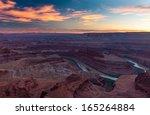 beautiful sunset in dead horse... | Shutterstock . vector #165264884