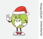 cantaloupe melon cartoon santa... | Shutterstock .eps vector #1652679916