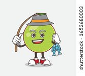 cantaloupe melon cartoon mascot ... | Shutterstock .eps vector #1652680003