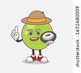 cantaloupe melon cartoon mascot ... | Shutterstock .eps vector #1652680009