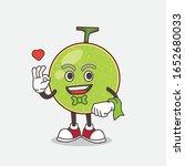 cantaloupe melon cartoon mascot ... | Shutterstock .eps vector #1652680033