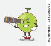 cantaloupe melon cartoon mascot ... | Shutterstock .eps vector #1652680036