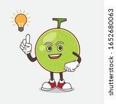 cantaloupe melon cartoon mascot ... | Shutterstock .eps vector #1652680063