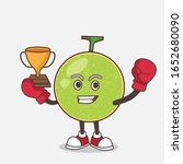 cantaloupe melon cartoon mascot ... | Shutterstock .eps vector #1652680090