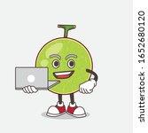 cantaloupe melon cartoon mascot ... | Shutterstock .eps vector #1652680120