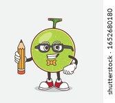 cantaloupe melon cartoon mascot ... | Shutterstock .eps vector #1652680180