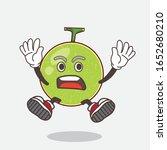 cantaloupe melon cartoon mascot ... | Shutterstock .eps vector #1652680210