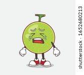 cantaloupe melon cartoon mascot ... | Shutterstock .eps vector #1652680213