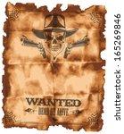 wanted leaflet | Shutterstock .eps vector #165269846