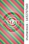 asian christmas style emblem.... | Shutterstock .eps vector #1652707660