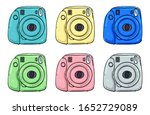 a set of instant printing... | Shutterstock .eps vector #1652729089