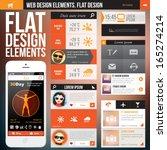 flat web design elements.... | Shutterstock .eps vector #165274214