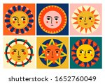 colorful abstract suns with... | Shutterstock .eps vector #1652760049