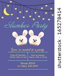 slumber party | Shutterstock .eps vector #165278414