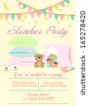 slumber party | Shutterstock .eps vector #165278420