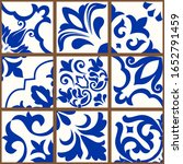 collection of 9 colorful tiles. ...   Shutterstock .eps vector #1652791459