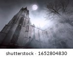 Old Gothic Church With...