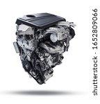 New Modern Car Engine Isolated...
