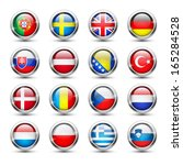 set of world flag glass icons ... | Shutterstock .eps vector #165284528