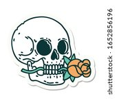 sticker of tattoo in... | Shutterstock . vector #1652856196