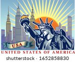 statue of liberty. new york and ...   Shutterstock .eps vector #1652858830