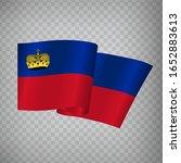 3d realistic waving flag of...
