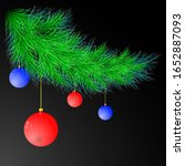 decorated christmas tree is a... | Shutterstock .eps vector #1652887093