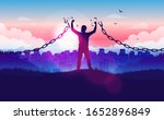 break free from the chains  ... | Shutterstock .eps vector #1652896849