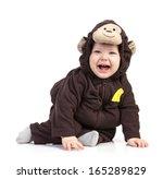 Baby Boy Dressed In Monkey...