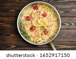Delicious Pasta With Shrimps On ...