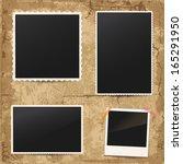 white retro frames on vintage... | Shutterstock .eps vector #165291950
