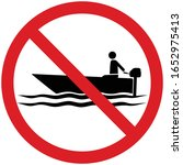 no boating.prohibition of... | Shutterstock .eps vector #1652975413
