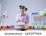 image of curious laboratorian... | Shutterstock . vector #165297944
