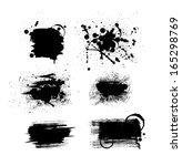 vector grunge ink banners set | Shutterstock .eps vector #165298769